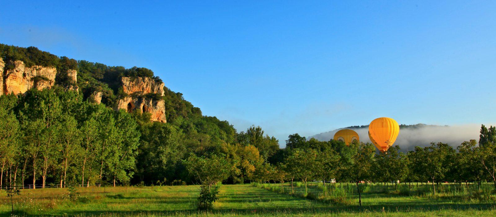 vol en Montgolfière sur la Vallée de la Dordogne