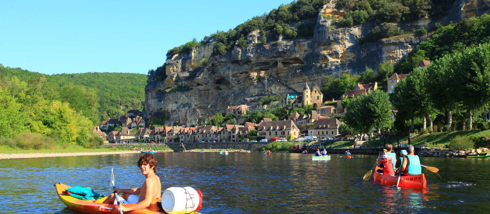 canoë sur la Dordogne à La Roque Gageac