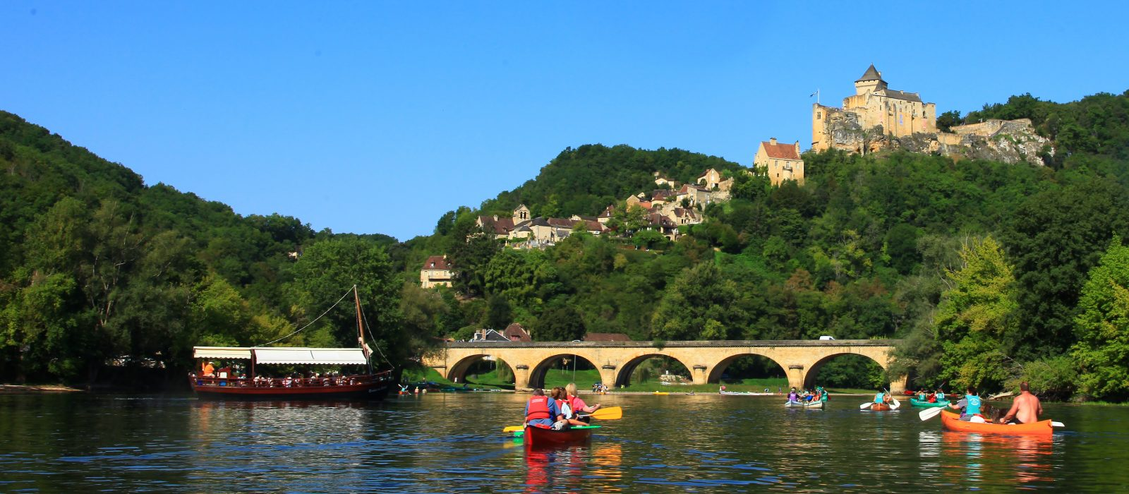 canoë sur la Dordogne, en famille, entre amis