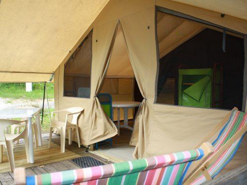 tentes à louer camping Au p'tit Bonheur en Dordogne