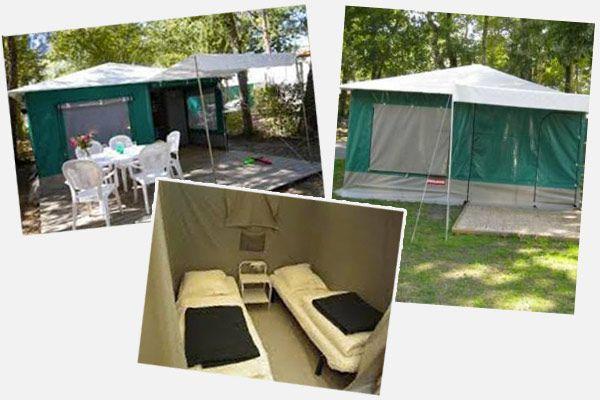 location de tente aménagée en Dordogne camping Au P'tit Bonheur