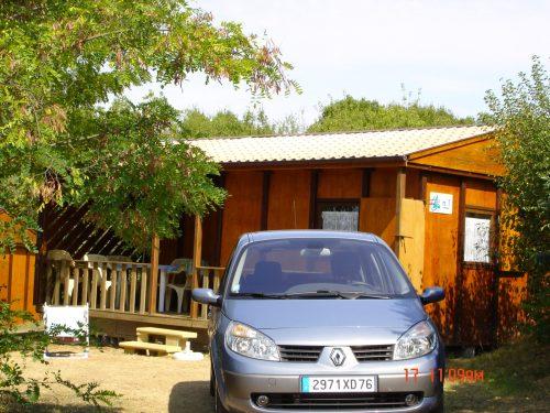 chalet en bois pour 6 personnes à louer en Dordogne au camping Au P'tit bonheur