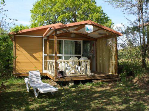Chalet Gitotel 5 personnes camping Au P'tit Bonheur