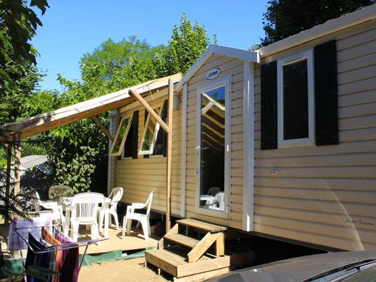 mobil-home grand confort en Dordogne au camping Au P'tit Bonheur