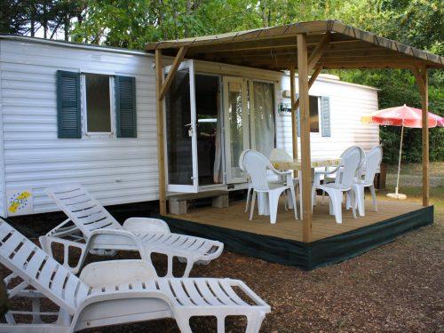 mobilhome en location en Dordogne camping Au p'tit Bonheur