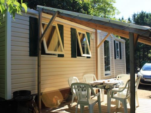 mobil-home 3 chambres camping Au P'tit Bonheur en Dordogne