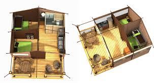 location pour 5 personnes en tente aménagée au camping Au P'tit Bonheur