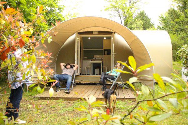 location insolite en Dordogne pour 4 personnes au camping Au p'tit Bonheur