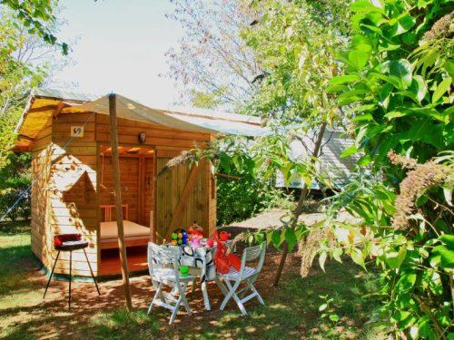 location pour 2 personnes au camping Au P'tit Bonheur en Dordogne