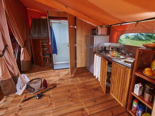location tente aménagée en Dordogne camping Au P'tit Bonheur